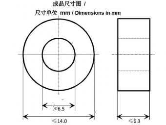 Silicon rubber amorphous toroidal core for toroid transformer