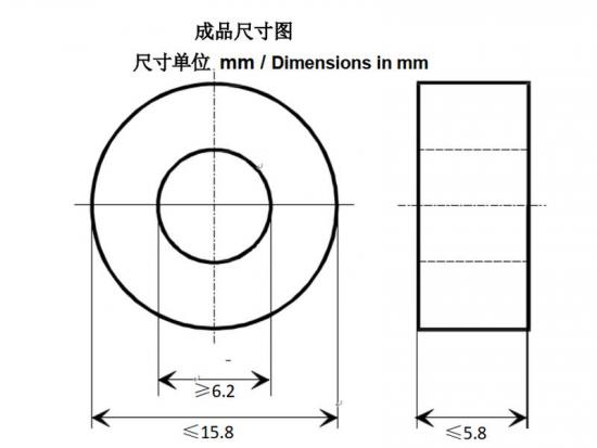 Epoxy resin amorphous toroid core for coil